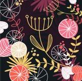 Fundo floral retro do teste padrão ilustração royalty free