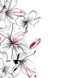 Fundo floral romântico ilustração stock