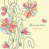 Fundo floral romântico ilustração royalty free