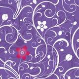Fundo floral roxo ilustração do vetor
