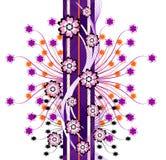 Fundo floral roxo abstrato Foto de Stock Royalty Free
