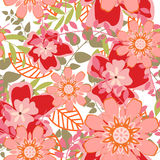 Fundo floral sem emenda ilustração royalty free