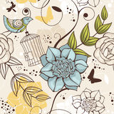 Fundo floral sem emenda Fotografia de Stock Royalty Free