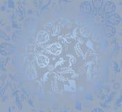 Fundo floral sem emenda azul do teste padrão Imagens de Stock