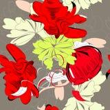 Fundo floral sem emenda colorido ilustração stock