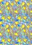 Fundo floral sem emenda com projeto ingênuo das flores watercolor Imagem de Stock