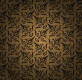 Fundo floral sem emenda do teste padrão. Papel de parede real luxuoso do estilo do damasco. Teste padrão floral sem emenda do dama Imagens de Stock
