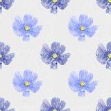 Fundo floral sem emenda Flores azuis do vintage Fotografia de Stock Royalty Free