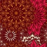 Fundo floral sem emenda Teste padrão étnico do contexto da tela da natureza feito a mão do Tracery com flores Vetor Fotos de Stock