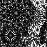 Fundo floral sem emenda Teste padrão feito a mão do contexto da natureza do Tracery com flores Arte binária decorativa Vetor ilustração do vetor