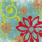 Fundo floral tropical imagens de stock royalty free