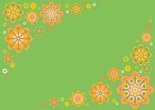 Fundo floral verde Imagens de Stock Royalty Free
