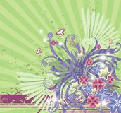 Fundo floral verde ilustração stock