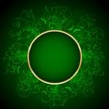Fundo floral verde Imagens de Stock