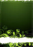 Fundo floral verde Foto de Stock Royalty Free