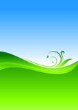Fundo floral verde Fotografia de Stock