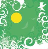 fundo floral Verde-branco Ilustração do Vetor