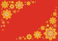 Fundo floral vermelho ilustração do vetor