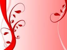 Fundo floral vermelho Fotos de Stock