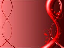 Fundo floral vermelho Imagens de Stock Royalty Free