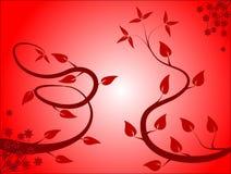 Fundo floral vermelho Fotografia de Stock Royalty Free