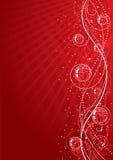 Fundo floral vermelho ilustração royalty free