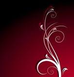 Fundo floral vermelho Imagem de Stock