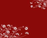 Fundo floral vermelho, vetor Fotografia de Stock