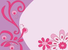 Fundo flowery cor-de-rosa Foto de Stock Royalty Free