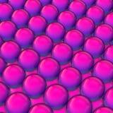 Fundo fluente da cor da forma do inclinação da esfera do projeto 3d 3d rendem Imagens de Stock Royalty Free