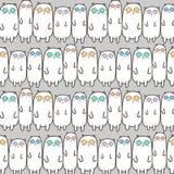 Fundo fresco do teste padrão do vetor dos gatos ilustração royalty free