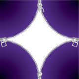 Fundo fresco do zipper Imagens de Stock Royalty Free