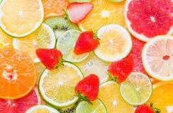 Fundo fresco dos citrinos imagens de stock