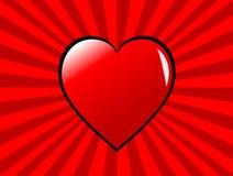 Fundo Funky dos corações dos Valentim Foto de Stock Royalty Free