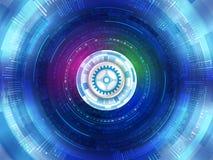 Fundo futurista abstrato da tecnologia digital Commu de Digitas Fotografia de Stock Royalty Free