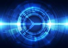 Fundo futurista abstrato da tecnologia digital vetor da ilustração Fotografia de Stock Royalty Free