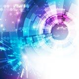 Fundo futurista abstrato da tecnologia digital vetor da ilustração Imagem de Stock