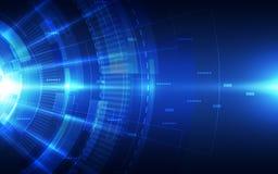 Fundo futurista abstrato da tecnologia digital vetor da ilustração Foto de Stock Royalty Free