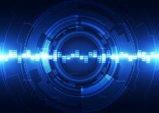 Fundo futurista abstrato da tecnologia digital vetor da ilustração Imagens de Stock Royalty Free