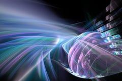 Fundo futurista abstrato do fractal Imagens de Stock Royalty Free