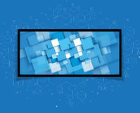Fundo futurista abstrato do negócio da informática  Imagens de Stock Royalty Free