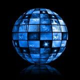 Fundo futurista azul da tevê de Digitas ilustração royalty free