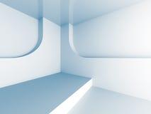 Fundo futurista da arquitetura branca abstrata Foto de Stock Royalty Free