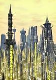 Fundo futurista da cidade Imagens de Stock Royalty Free