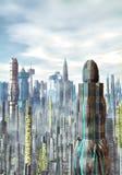 Fundo futurista da cidade Imagem de Stock Royalty Free