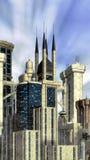 Fundo futurista da cidade Fotografia de Stock
