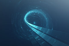 fundo futurista da ficção científica do sumário 3D Imagens de Stock