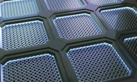 Fundo futurista da superfície do polígono do metal da tecnologia abstrata Imagem de Stock