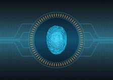 Fundo futurista da tecnologia biométrica Imagens de Stock
