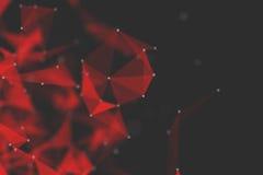 Fundo futurista da tecnologia Fantasia futurista do triângulo do plexo rendição 3d Fotografia de Stock Royalty Free
